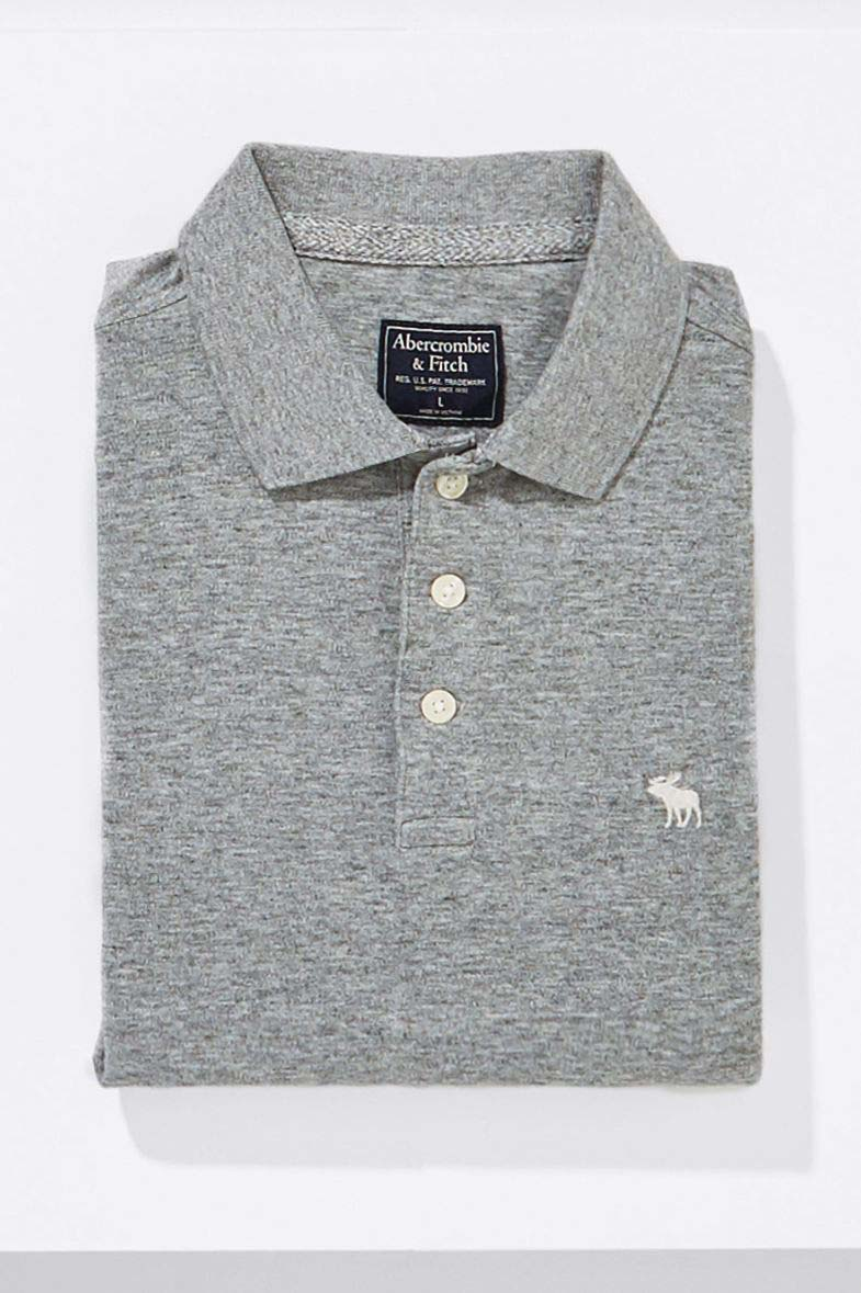 2738ee1f Mens Abercrombie & Fitch Classic Polo - Grey   Products   Pinterest ...