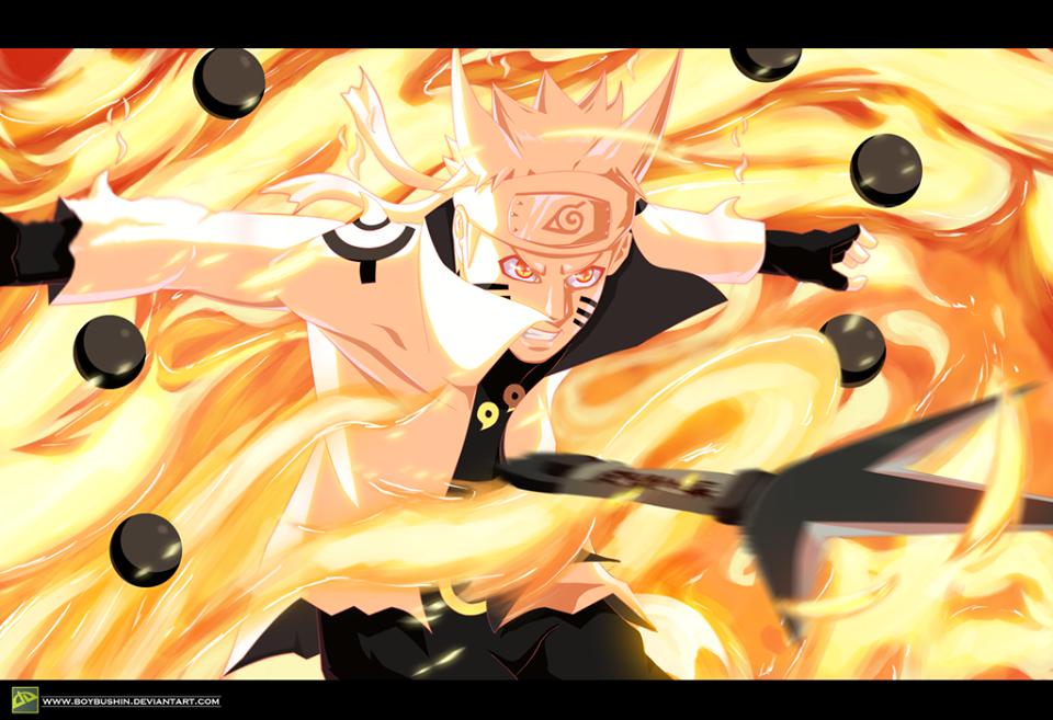 naruto bijuu mode sage of six path anime s pinterest ficção