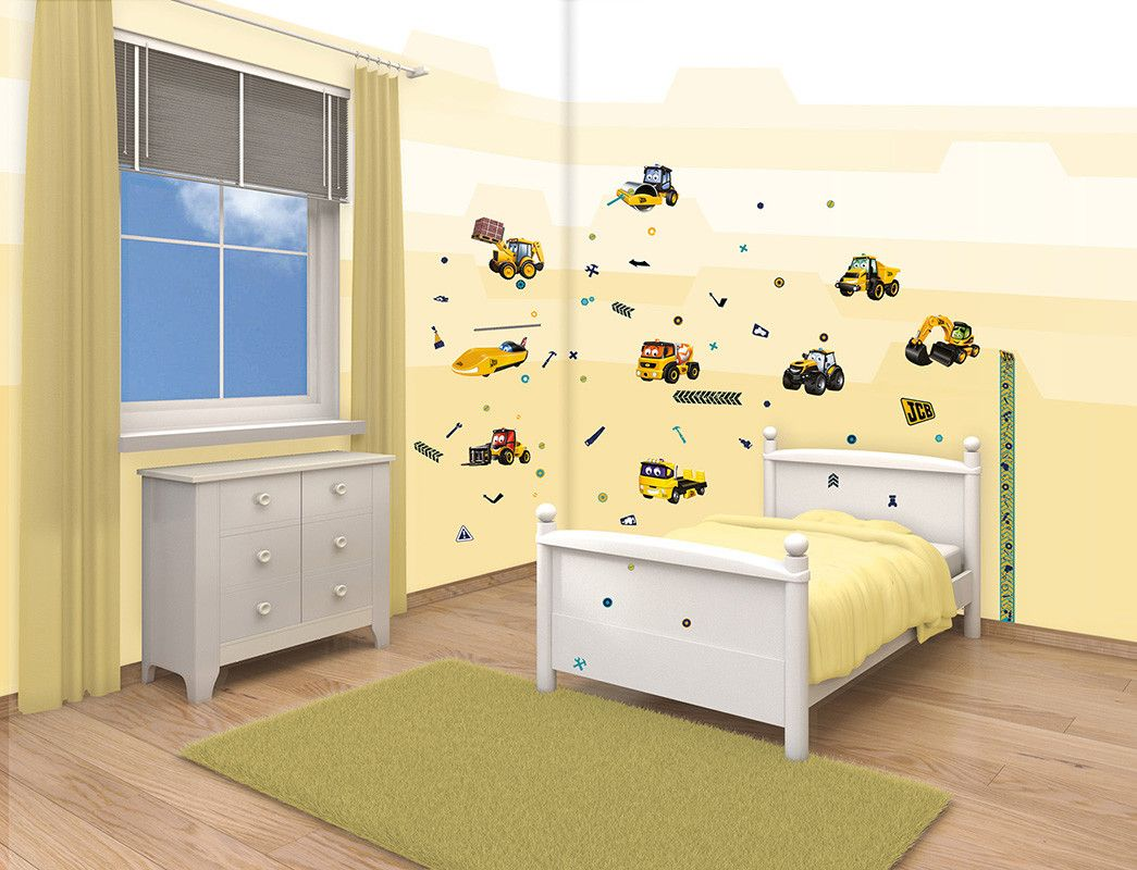 My First JCB 54 Piece Wall Decal Set | Products | Pinterest | Wall ...