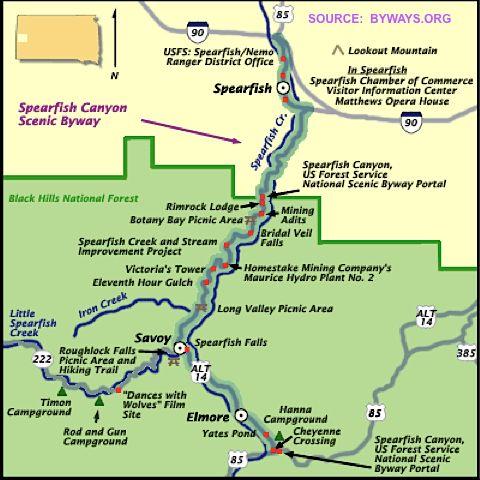 map of spearfish south dakota Pin On South Dakota map of spearfish south dakota