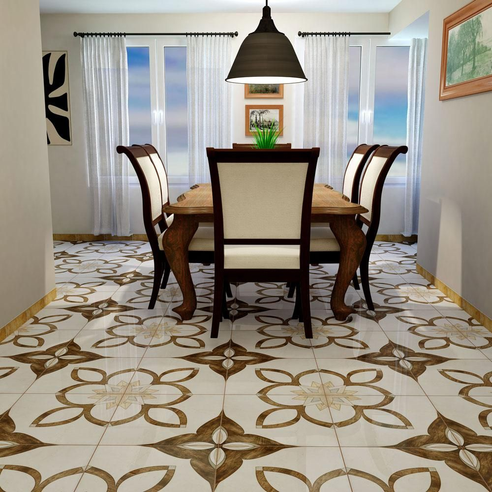 Merola Tile Argos Natural 17 3 4 In X 17 3 4 In Ceramic Floor And Wall Tile 22 5 Sq Ft Case Fcl18agn The Home Depot Ceramic Floor Merola Tile Wall Tiles