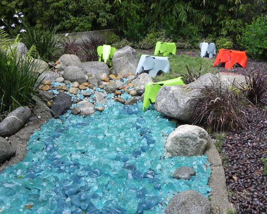 Epic Glass Rock Landscape To Decorate Your Garden : Perfect Glass Rock  Landscape Combined With Gravels - Epic Glass Rock Landscape To Decorate Your Garden : Perfect Glass