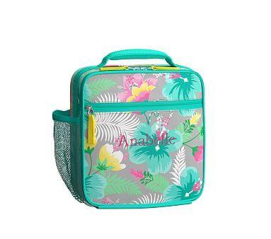 Mackenzie Classic Lunch Bag Sbm15 Gray Hibiscus Bags