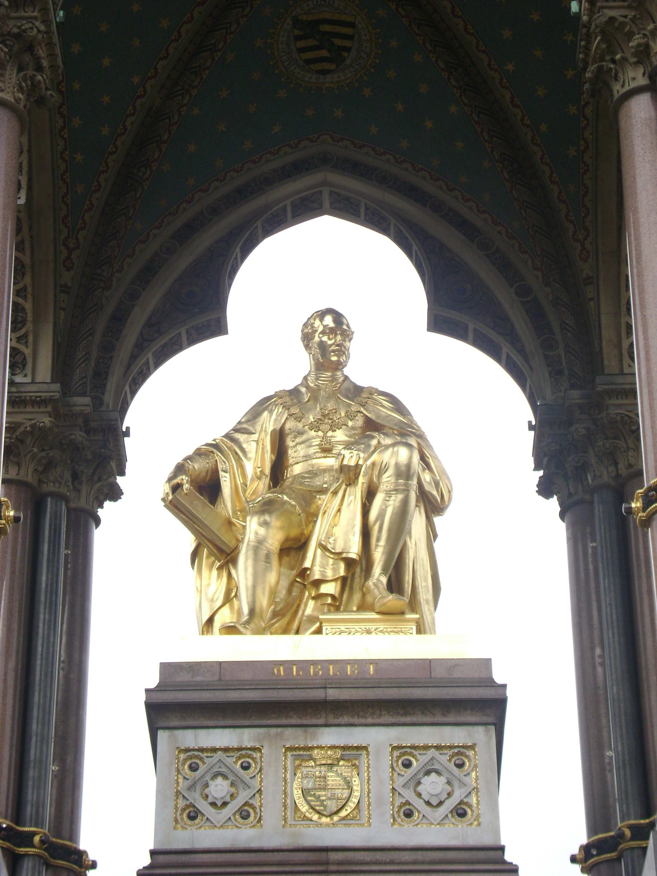 The Memorial Statue Of Prince Albert By John Henry Foley And Thomas Brock