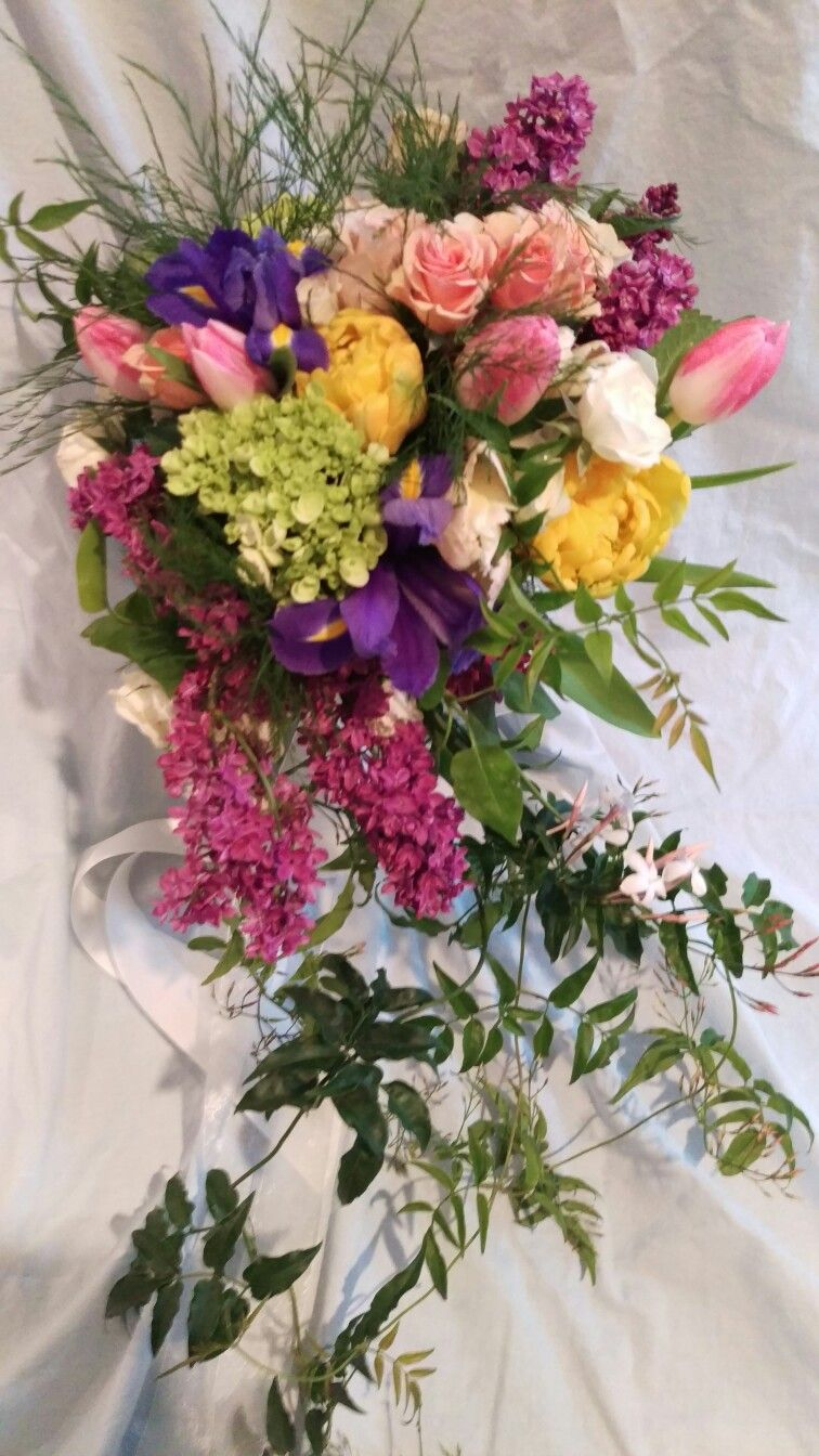 A Spring Wedding With A Rainbow Of Flowers And Color And The Bride