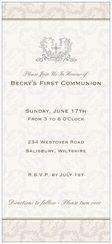 Invitations & Announcements baptism cross