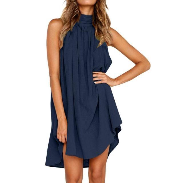 Z25 Solid Dress Ruffle Women 2020 Spring Summer New Fashion Night Dresses