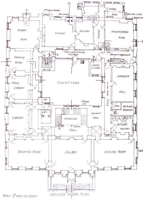 Redgrave Hall Suffolk Ground Floor Plan Mansion Plans Mansion Floor Plan Architectural Floor Plans