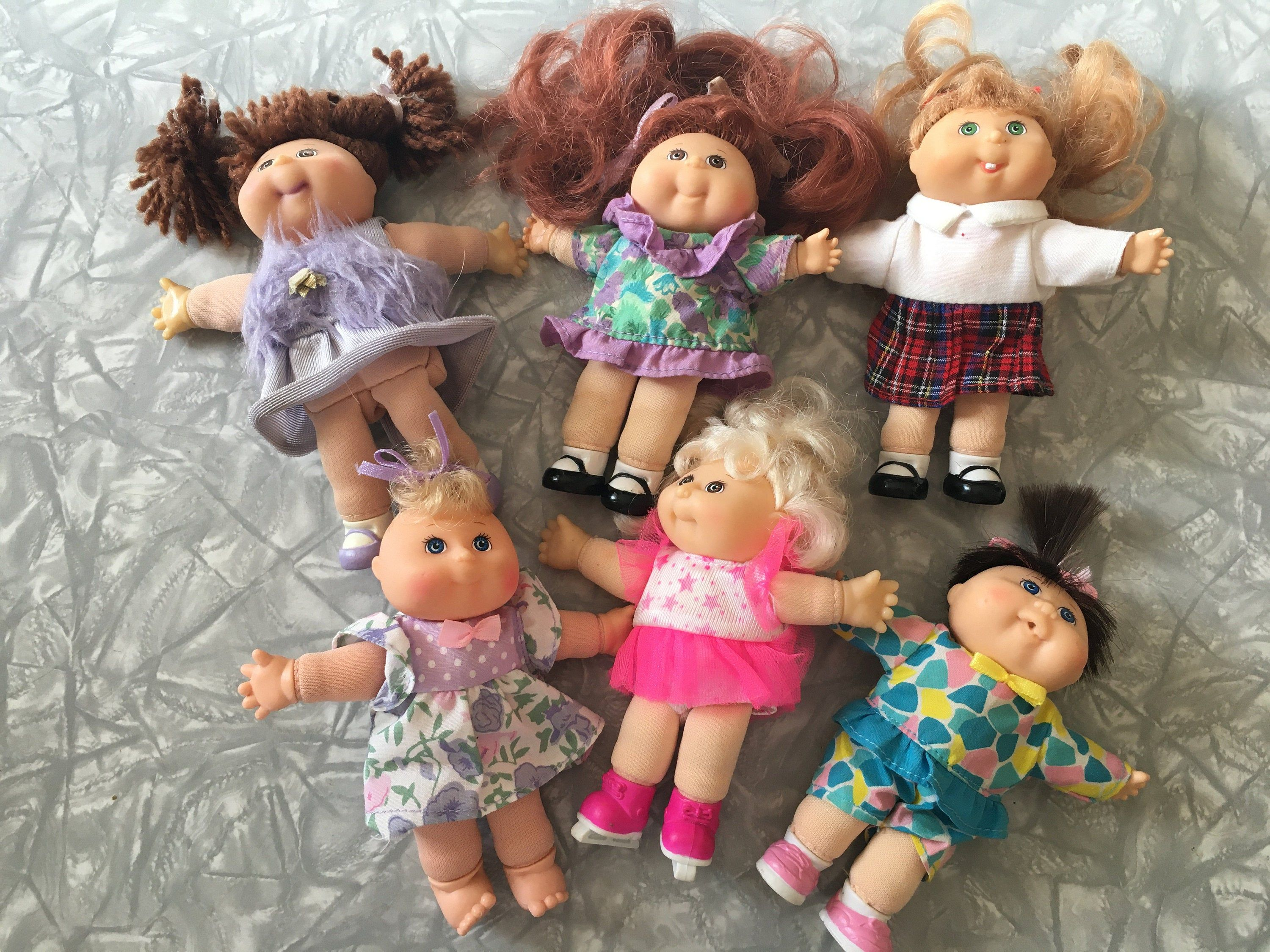 Lot Of 6 1995 Cabbage Patch Kid Baby Collectible 5 Mini Dolls Mattel Arco Toys Cabbage Patch Kids Patch Kids Cabbage Patch