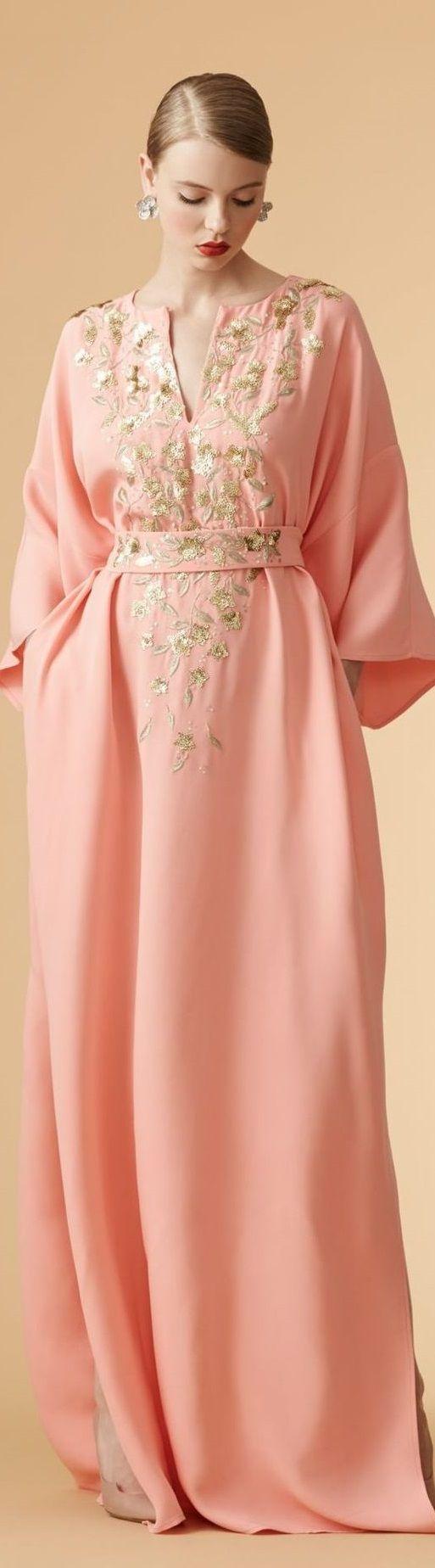 Carolina herrera resort peach orange haute couture