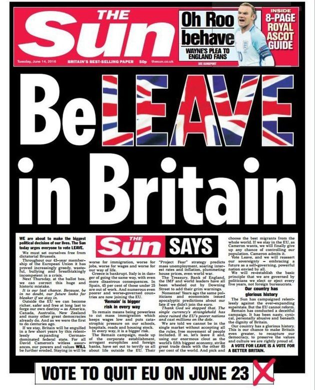 Latest News Headlines Big 50: Rupert Murdoch Had Nothing To Do With This Sun Front Page