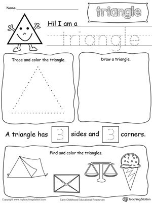 All About Triangle Shapes Shapes Kindergarten Shapes Preschool Kindergarten Worksheets
