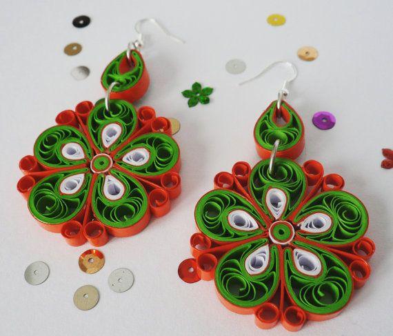 4d3fd86005c13 Christmas snowflakes festive statement earrings. Unique, filigree ...