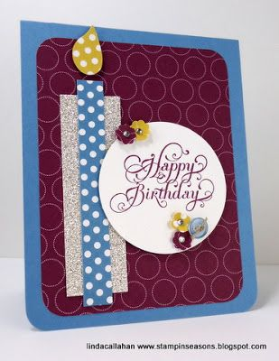 Stampin Seasons An Early Birthday Gift Fms60 Birthday Cards Diy Cards Birthday Candle Card