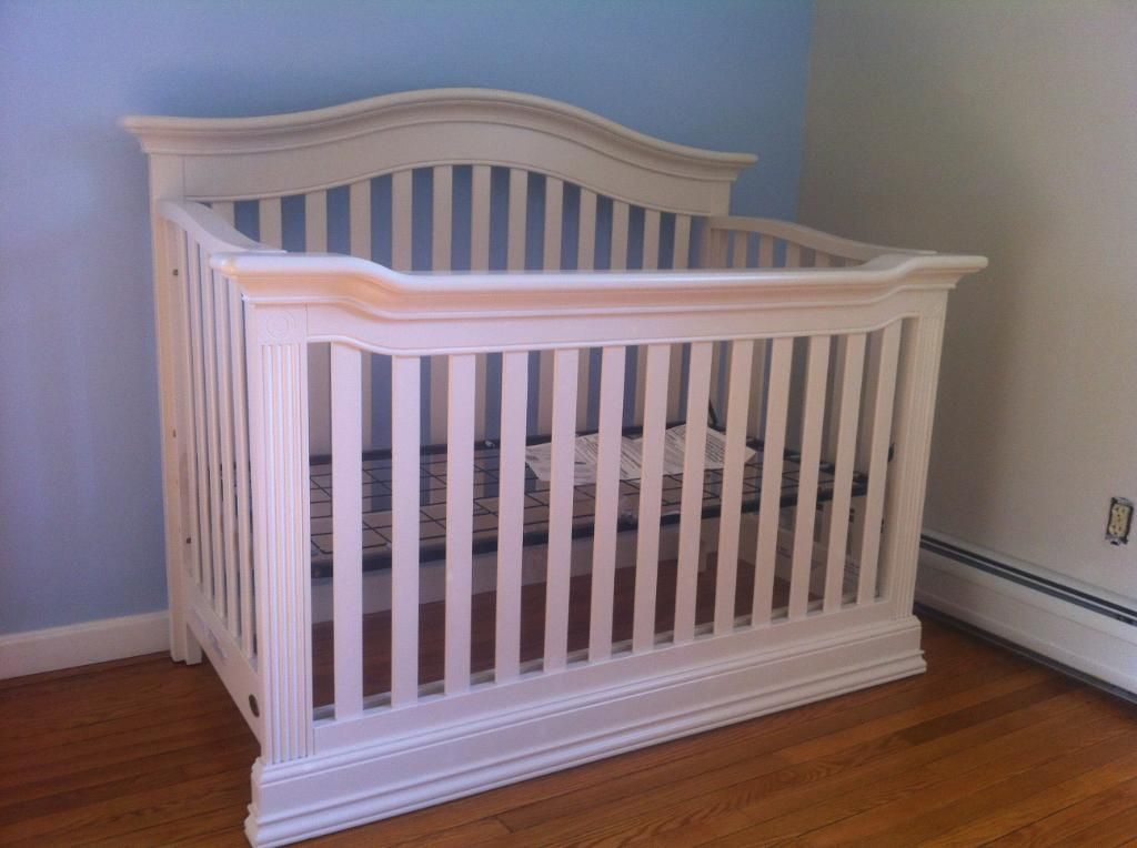 baby cache montana 4in1 convertible crib glazed white - White Baby Crib