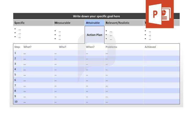 Professionelle SMART Ziele für PPT: SMART Ziele können mit einem ...