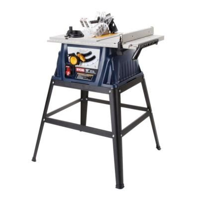 Ryobi 15 Amp 10 In Table Saw Rts10 At The Home Depot 129 00 Portable Table Saw Table Saw Ryobi Table Saw