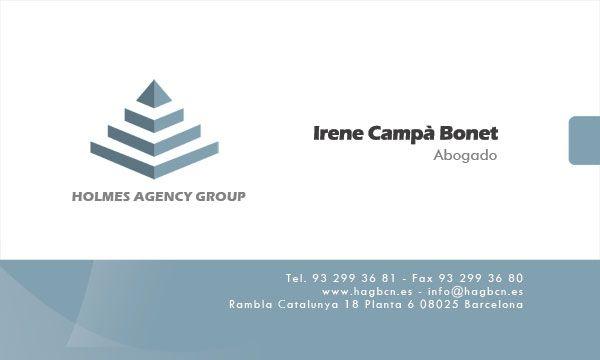 Holmes Agency Group. Tarjeta de empresa I. (2014)