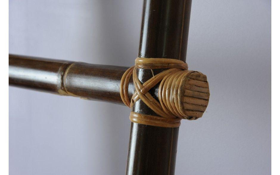 Porte serviette pour salle de bain échelle en bambou inca02