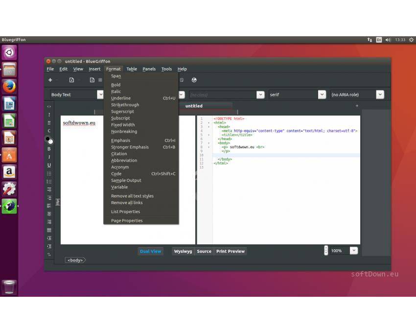 BlueGriffon for Linux, Free Download - softDown eu | LINUX