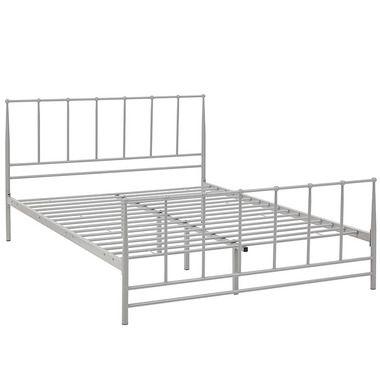 Estate Integrated King Size Steel Platform Bed Frame in Gray ...