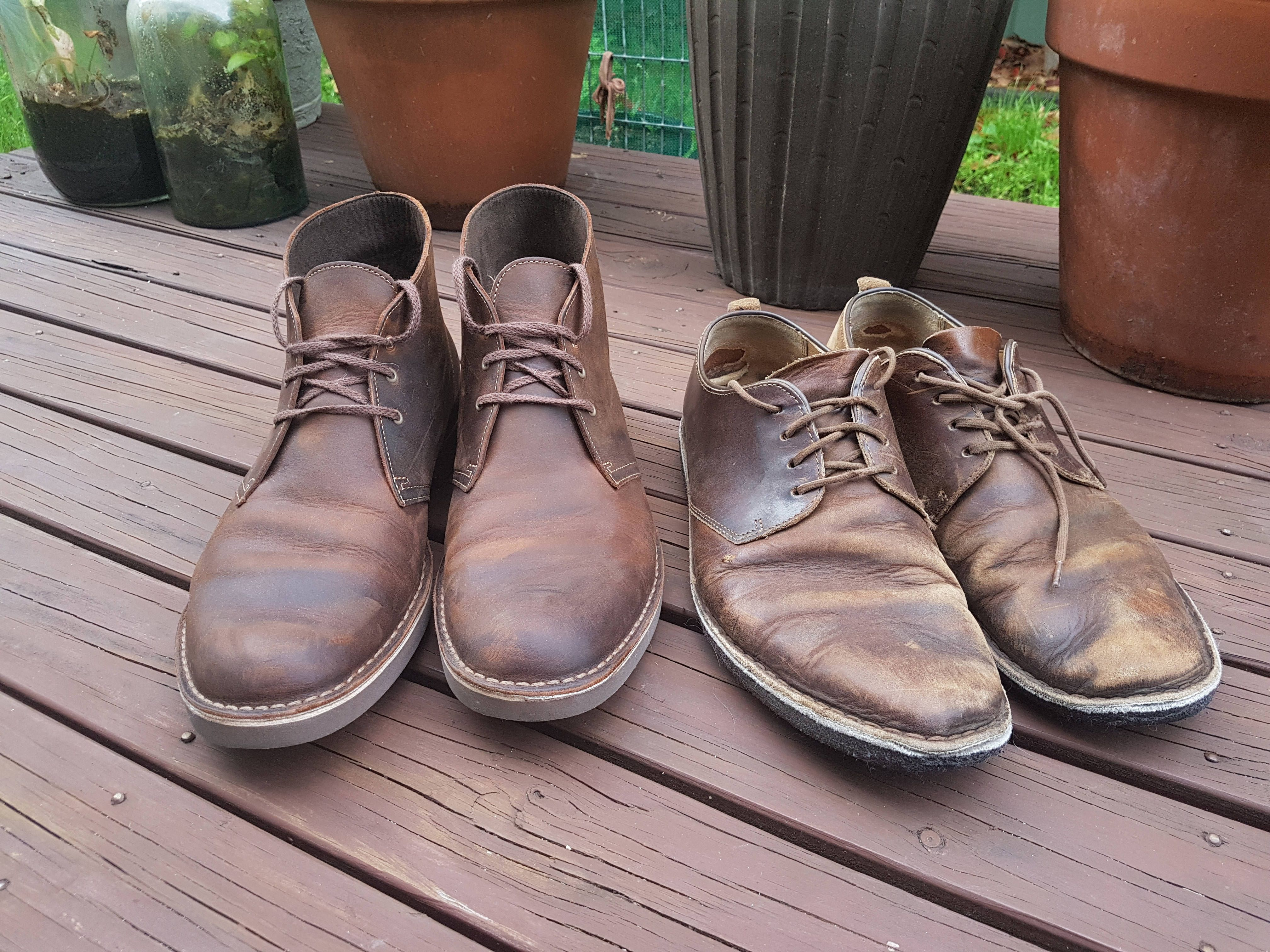 a125a01db0a4 Clark s Dessert Boots  Two Years Of Daily Wear vs New Pair  styled247