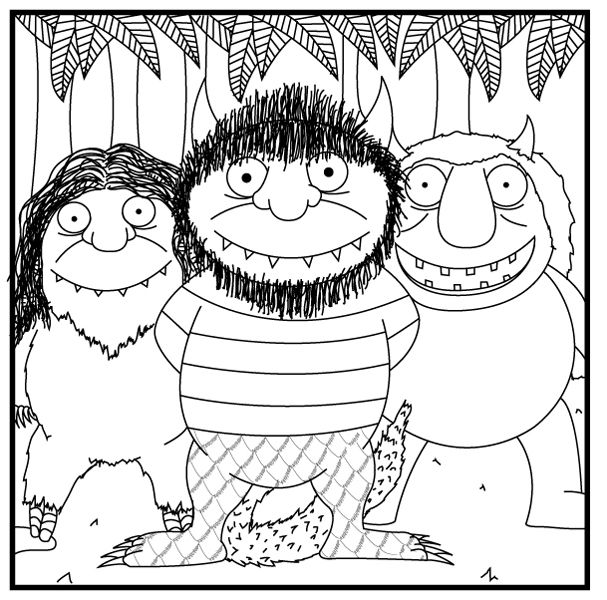 where the wild things are book mewarnai coloring pages