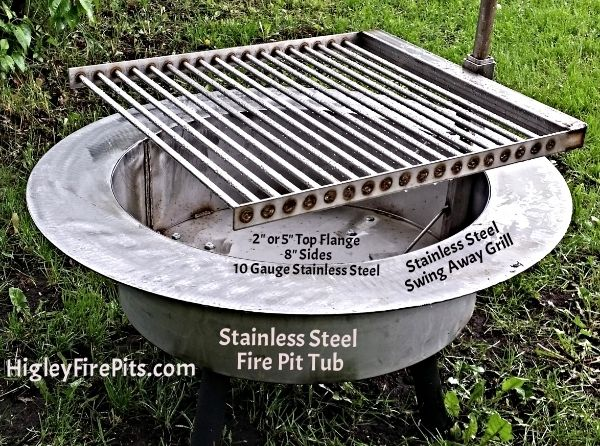 Pin By Higley Welding Rogers Minnesot On Higley Firepits Stainless Steel Fire Pit Stainless Steel Fire Pit Liner