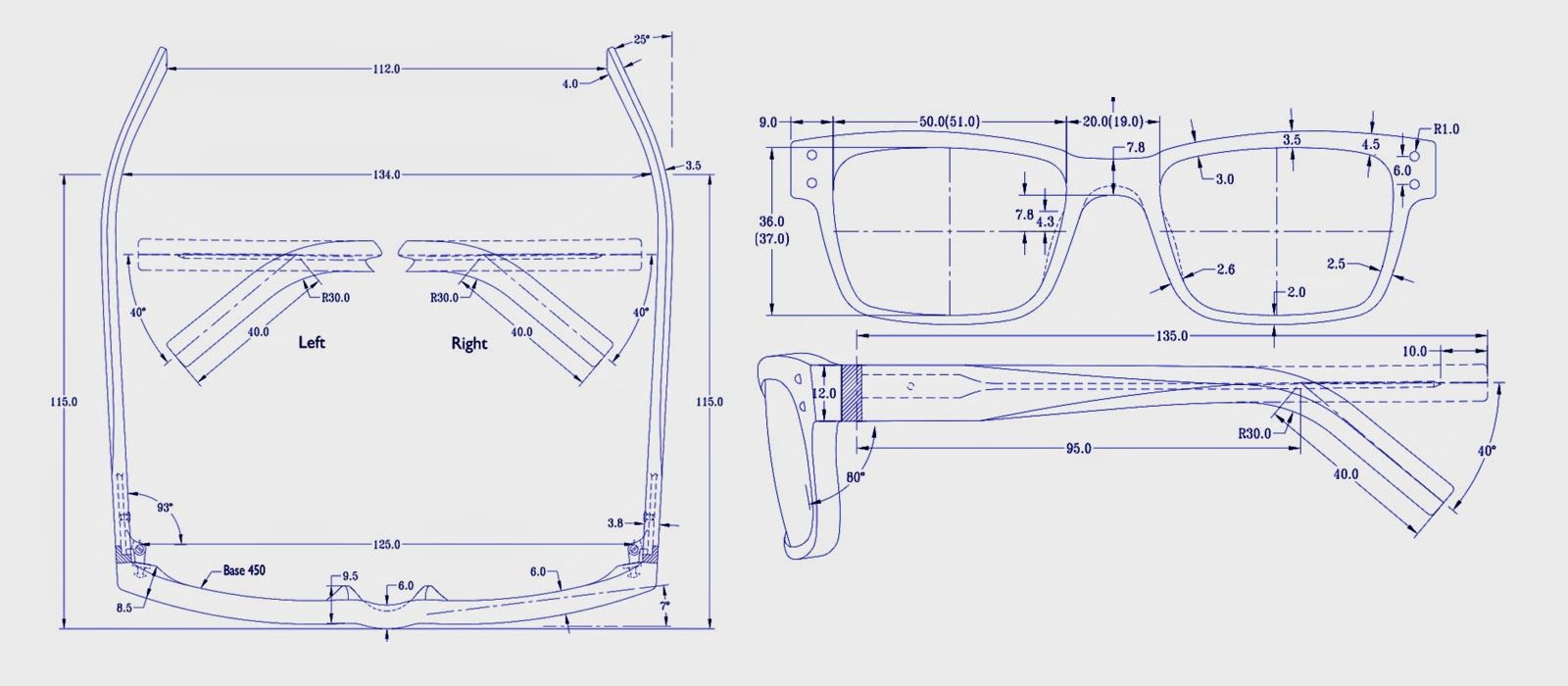 Glasses Technical Drawings Google Search The Eyes Have