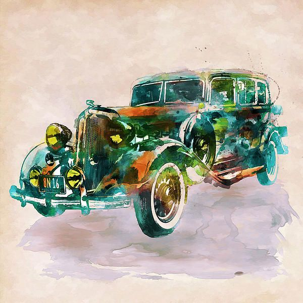 Car In Watercolor By Marian Voicu