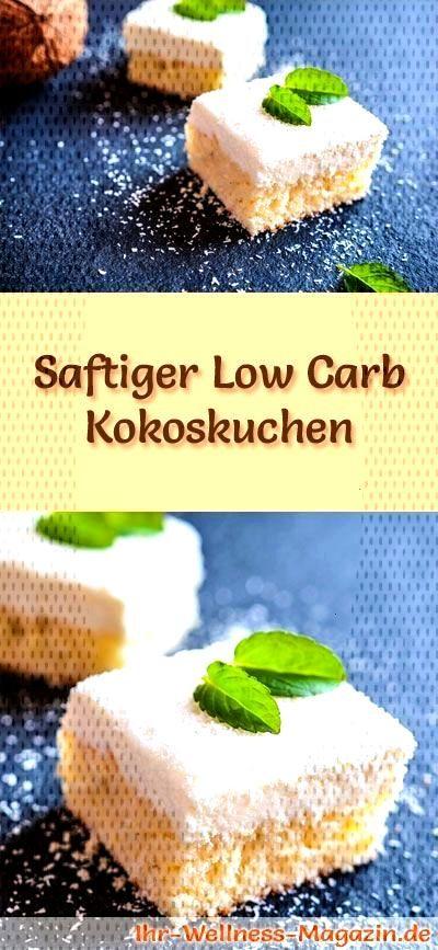 Simple, juicy low carb coconut cake - recipe without sugar -  Recipe for a juicy low carb coconut c