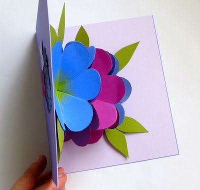 Mmmcrafts Made It Martha Stewart Pop Up Flower Card Video 2 05