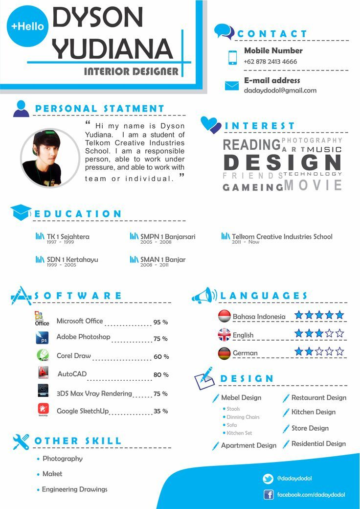 Pin by hirono on graphic Pinterest - interior design resume