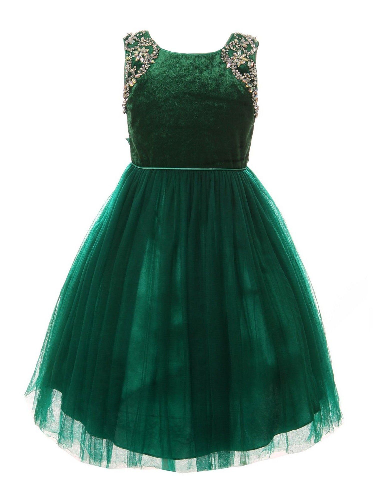 Cinderella Couture Little Girls Green Velvet Sparkle Rhinestone Tulle T Length Christmas Dress Walmart Com Holiday Dress Outfit Girls Christmas Dresses Toddler Girl Dresses [ 2000 x 1500 Pixel ]