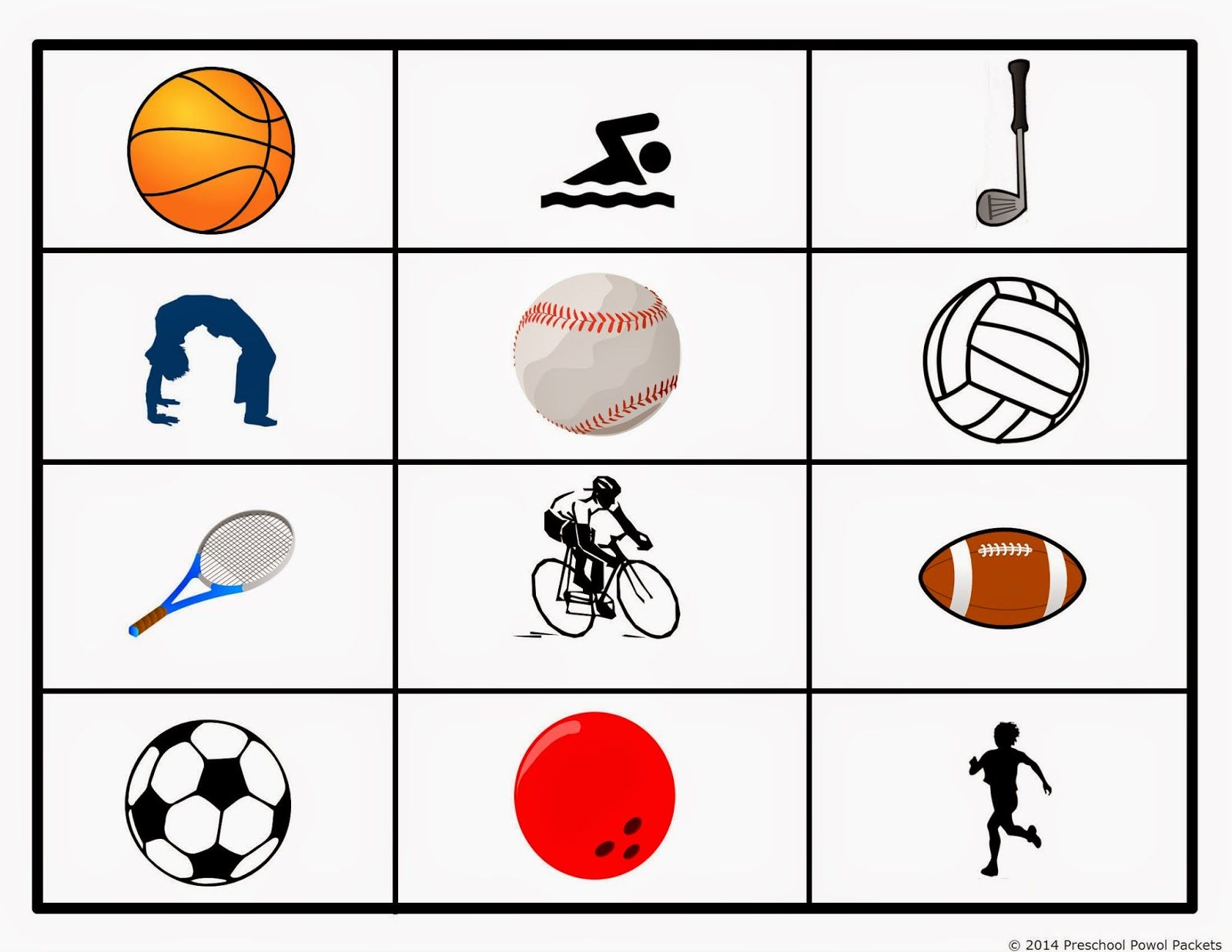 free preschool sports grid game attention span science crafts and math. Black Bedroom Furniture Sets. Home Design Ideas