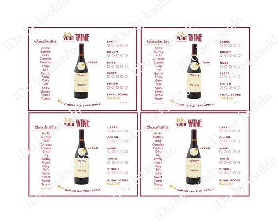Wine Tasting Score Card Wine Tasting Rating Sheet Wine by ksoldo - free wine list template