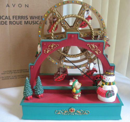 Christmas Musical Ferris Wheel Lighted Decoration Ceramic