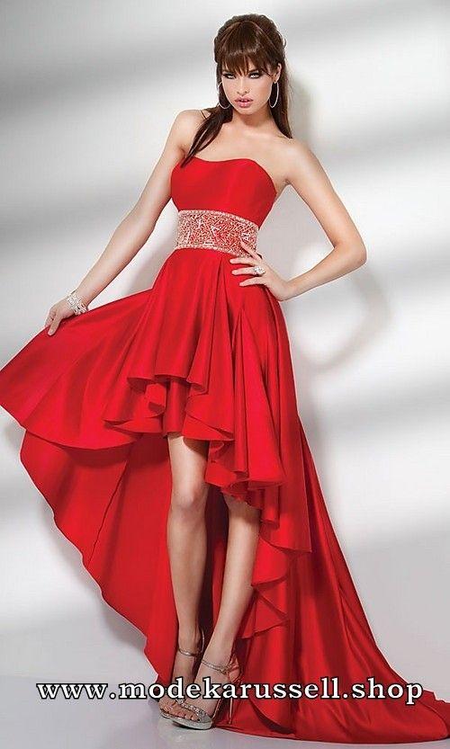 Abendkleid Solange in Rot Vorne Kurz Hinten Lang | Rote Kleider ...