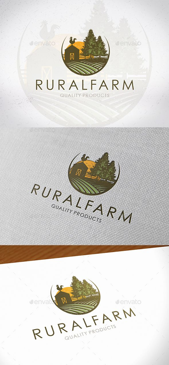 Rural Farm Logo Design — PSD tree farm logo