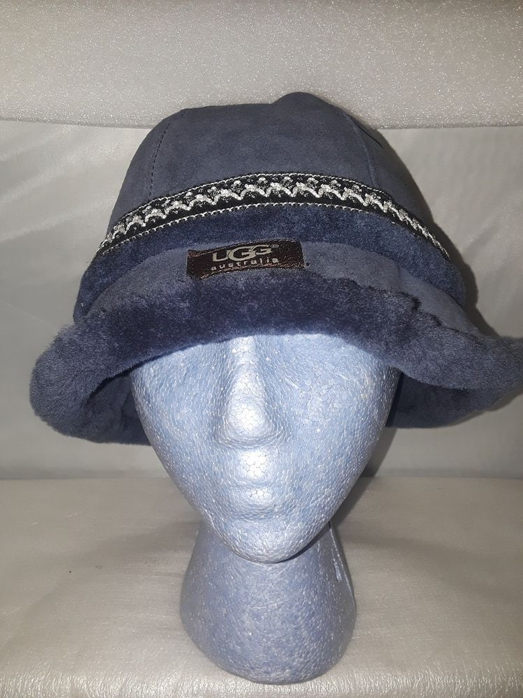 9568ea9aad2 UGG Australia Womens Navy Blue Suede Shearling Sheepskin Bucket Hat (O S)  NWOT  fashion  clothing  shoes  accessories  womensaccessories  hats (ebay  link)