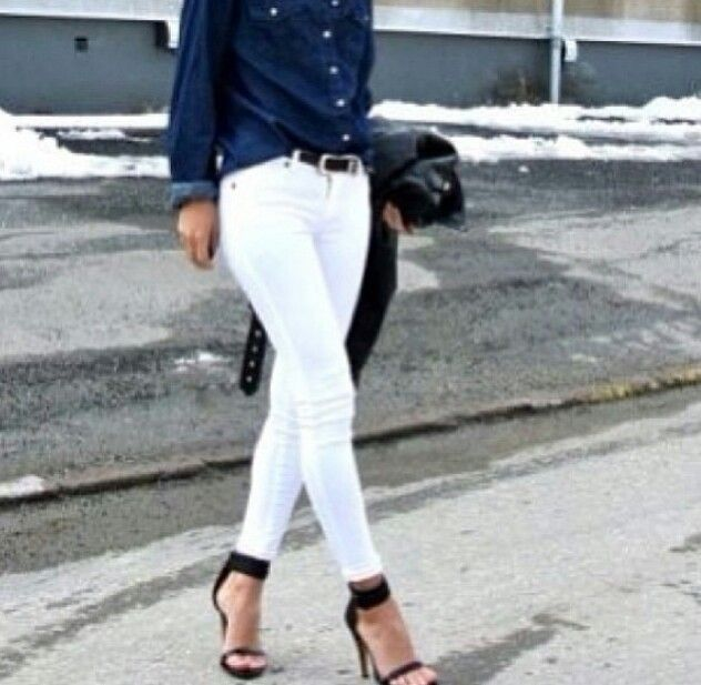 Jeans/basic/white/shoes/