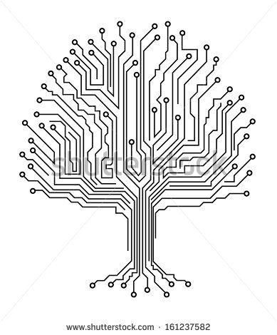 Microchip tree Tech )))) Pinterest - new robot blueprint vector art