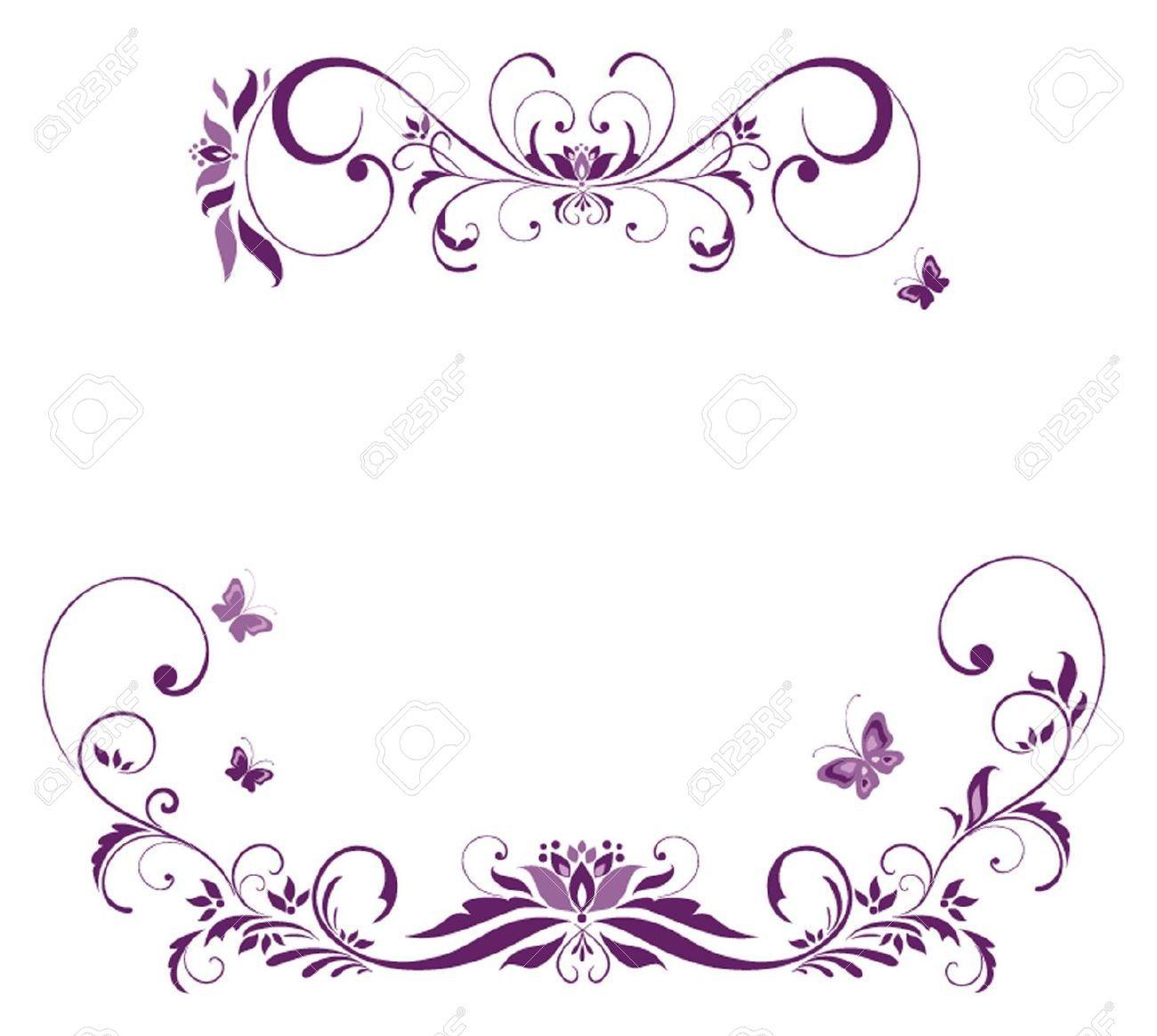 Stock Vector Flower sketches, Floral border, Floral