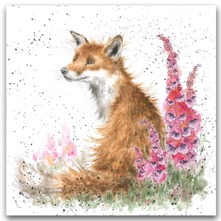 'Foxgloves' card