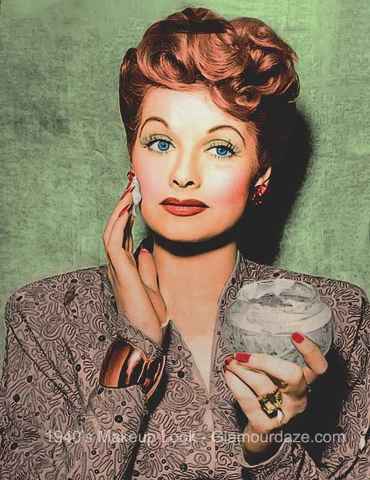 The History Of 1940s Makeup 1940 To 1949 Glamour Daze I Love Lucy Lucille Ball Love Lucy