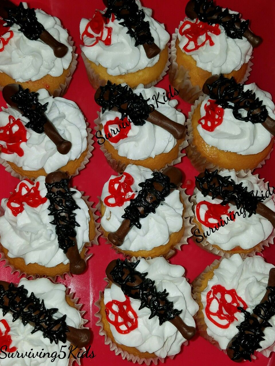 Negan's Sluggers Cupcakes By Say It With Cake Bakery in New Bern, NC