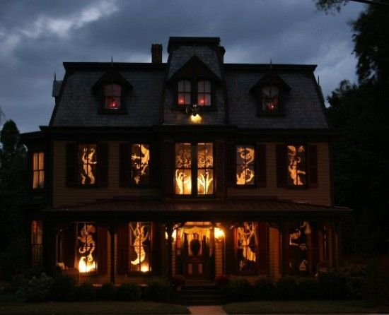 Scary Windows Lights Home House Decorate Ideas