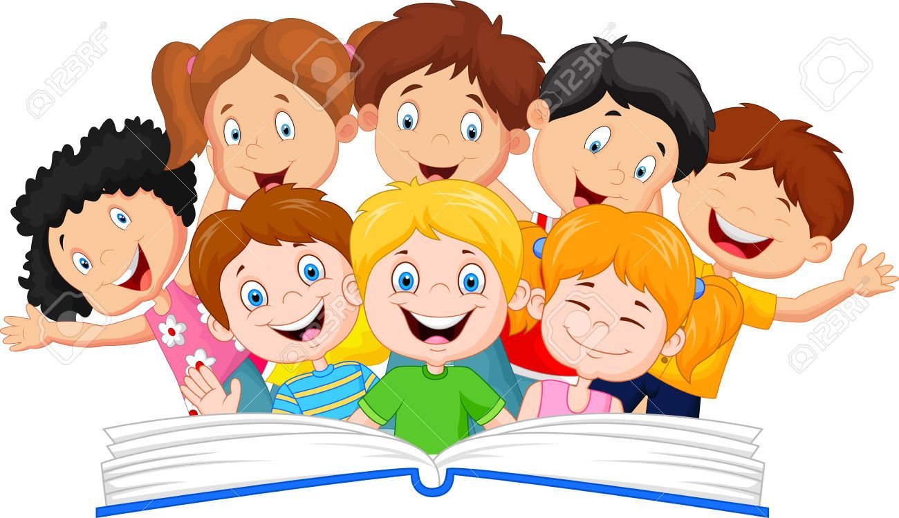 medium resolution of kids reading book stock illustrations cliparts and royalty free