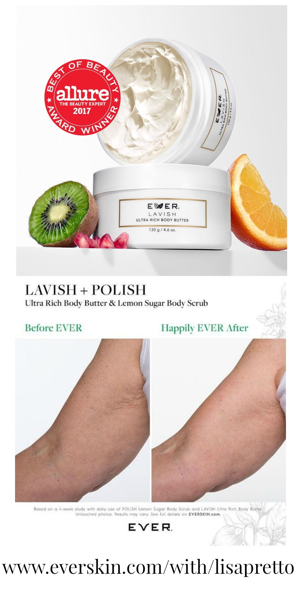 ever skin lavish body butter, allure best of beauty award