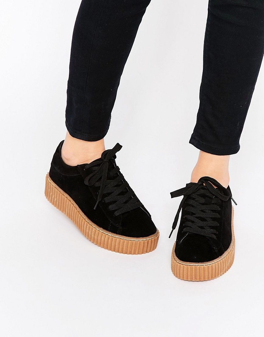 8fff70296 Image 1 of Truffle Collection Flatform Creeper Trainers ...